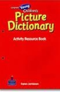 Young Children's Picture Dictionary Activity resource Book