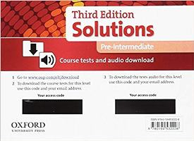 Solutions 3ED PRE-INTERMEDIATE Tests Pack