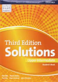 Solutions 3ED UPPER-INTERMEDIATE Student's Book