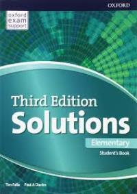 Solutions 3ED ELEMENTARY Student's Book