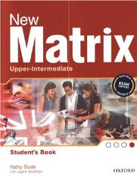 New Matrix Upper-intermediate Student's Book