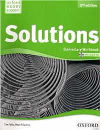 Solutions 2ED Elementary Workbook and Audio CD Pack
