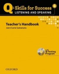 Q SKILLS FOR SUCCESS Listening and Speaking 1 Teacher's Handbook